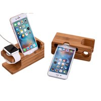 ingrosso supporto per tavolette in legno-Creativo in legno cellulare tablet USB ricarica stand multifunzione bambù base di ricarica porta cellulare creativo ha una varietà di opt