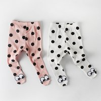 Wholesale cute tights for baby girls for sale - Group buy Boutique Korea Child Leggings Knit Tights Panty hose for Baby Cute Dots Eyes Stretch Soft Cotton Spring Fall m