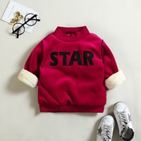 Wholesale newborn sports clothes resale online - BibiCola Newborn Girls Boys Winter Warm Hoodies Infant Baby Casual Plus Velvet Sport Clothes Tops Bebe Cotton Thicken