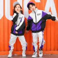 Kids Teen 2-Piece Set Jogging Bottoms Hooded Zip Top Plain Tracksuit 5-16 Years
