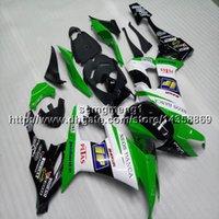 weiße kawasaki ninja plastics großhandel-23 farben + botls grün weiß motorradhaube für kawasaki 08 09 10 zx-10r 2008 2009 2010 abs kunststoff motor verkleidung