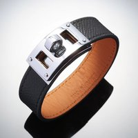 ingrosso oro bracciali braccialetti amicizia-Braccialetto di cuoio dei monili dei braccialetti di cuoio del braccialetto del braccialetto dei braccialetti dell'acciaio inossidabile dell'acciaio inossidabile dei braccialetti di modo del braccialetto di amore