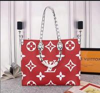 ingrosso borsa rossa di qualità-2019 del modello Marea L Lettera OnTheGo Canvas Handbags rosso decorativo di modo delle donne sacchetto di stampa borsa Borse Ragazze Shopping Bag di alta qualità