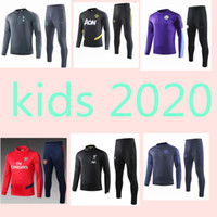 crianças de inverno conjuntos treino venda por atacado-chandal kids tracksuit set boys football training enfant survêtement Tottenham Liverpool Arsenal Manchester City Manchester United  Chelsea