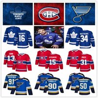 jerseys canadenses venda por atacado-2019 Toronto Maple Leafs Hockey Jerseys Montreal Canadiens 13 Max Domi 31 Preço St. Louis Blues Jerseys 91 Tarasenko 90 O'Reilly 88 Nylander