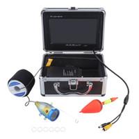 pesca câmera de vídeo subaquática venda por atacado-15 m / 30 m / 50 m de vídeo Fish Finder 1000TVL luzes controlável Underwater Fishing Camera Kit lago sob a água vídeo