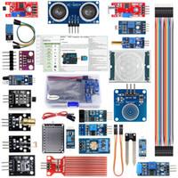 kit sensor para arduino al por mayor-Sensor Frambuesa Pi Kits Arduino módulo 22-en-1 para MEGA Arduino UNO R3 2560 Nano IO Principiante Learning Starter Kit (Tutorial Incluyó)