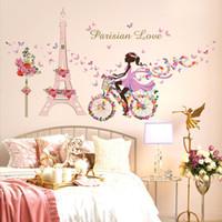 adesivos removíveis crianças venda por atacado-60 cm * 90 cm princesa meninas wall art pictures para crianças quarto fundo removível adesivos romântico quente decoração da casa adesivos de parede Decoração