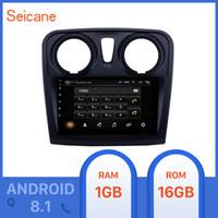 bmw e39 dvd gps bluetooth achat en gros de-Seicane 9 pouces 2 din Android 8.1 pour Dacia Sandero 2012 2013 2014 2015-2017 Avec voiture caméra arrière voiture Lecteur multimédia DVD