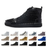 Wholesale ivory sandals for women resale online - Top Sale Designer Studded Spikes Flats shoes mens sandals Red Bottom Shoes For Men and Women Party Lovers Genuine Leather Sneakers