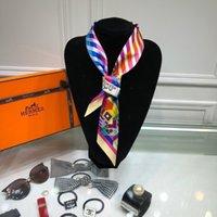 eşarp katmanları toptan satış-Çift saç bandı bayan saç bandı ipek eşarp çift katmanlı küçük şerit gerçek ipek yapılmış boyutu 6 * 90
