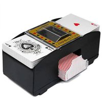 Wholesale poker accessories resale online - New Design Automatic Poker Card Shuffler Playing Casino Robot Shuffling Machine Poker Accessory For Family Game