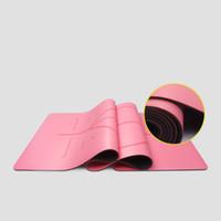 ingrosso materiale yoga mats-Colorato materiale ecologico antiscivolo in gomma naturale PU tappetino yoga tappetino fitness principiante ecologico stuoia di yoga insipido
