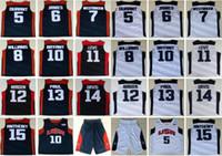 Wholesale chris paul jersey resale online - 2012 Team USA Kevin Durant LeBron James Harden K B Chris Paul Kevin Love Anthony Williams Westbrook Davis Basketball Jerseys
