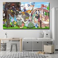 gesicht malerei für kinder großhandel-Chihuiro Miyazaki Gemälde auf Leinwand Moderne Kunst Dekorative Wandbilder Home Kinderzimmer Dekoration
