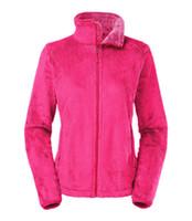 ingrosso cappotti rosa per le donne-New North Winter Spring Donna Soft Fleece Osito Giacche Cappotti Fashion Casual Brand Donna Uomo Bambini Sci Giù cappotti caldi S-XXL Nero Rosa