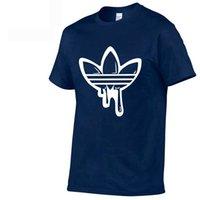 markalı gömlek logoları toptan satış-Tasarımcı erkek T-Shirt Yeni Büyük Boy Yaz Moda T-Shirt erkek Yuvarlak Boyun Kısa Kollu Moda T-Shirt Kısa Kollu Gelgit Marka Logosu