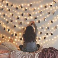 rosa geführte klipps groihandel-Fee String Foto Clip Licht LED Weihnachtsdekoration Für Home Garland Anhänger Weihnachtsbaum Dekor 2019 Navidad Ornamente Weihnachten
