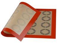 silikon-makkaronat großhandel-42 * 29,5 cm Backmatte Antihaft-Silikon-Unterlage Backformen Backwerkzeuge Rollteigmatte für Kuchen Keks Macaron