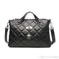 ingrosso pietra nera della porcellana-Nizza nuovo pacchetto femminile coreano moda Trend Lingge borsa nera Temperamento Made in Cina a basso costo