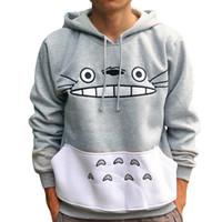 nachbar totoro kostüm großhandel-Mein Nachbar Totoro Tonari Kein Totoro Cosplay Kostüm Unisex Kapuzenjacke Mantel Dicke Warme Hoodied Sweatshirts