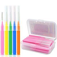 Wholesale teeth floss for sale - Group buy L Shaped Interdental Brush Denta Floss Interdental Cleaners Orthodontic Dental Teeth Brush Toothpick Oral Care Tool