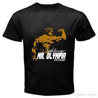 ingrosso arnold schwarzenegger-Arnold Schwarzenegger Mr. Olympia Body Building Champ T-shirt nera Taglia S-3XL