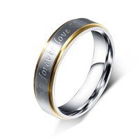 Wholesale forever love rings for sale - Group buy Her or Him Silver color quot Forever Love quot Double Heart Stainless Steel Promise Ring Couple Wedding Engagement Band Jewelry