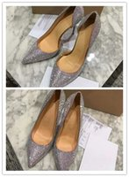 kutu gemi gelinlik toptan satış-Ücretsiz kargo moda kadın ayakkabı Gümüş glitter Iriza pompası Noktası toe stilettos düğün parti ile yüksek topuk elbise ayakkabı orijinal kutu
