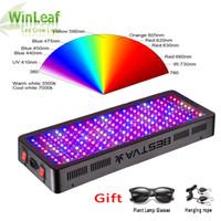 espectro cheio conduziu a iluminação da planta venda por atacado-Cresce a luz LED Full Spectrum 600W 800W 1000W 1200W 1500W 2000W Duplo Chip vermelho / azul / UV / IR para plantas de interior VEG BLOOM