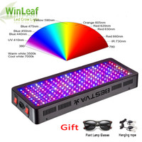 Wholesale red blue led indoor resale online - LED Grow Light Full Spectrum W W W W W W Double Chip Red Blue UV IR For Indoor Plants VEG BLOOM