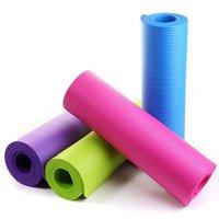 esteras de pilates gruesas al por mayor-Al aire libre 183cm * 61cm * 0.8cm Plegable Estera de yoga deportiva Antideslizante Almohadilla gruesa Gimnasio Pilates Mat 3 colores ZZA999