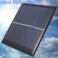 módulo al aire libre al por mayor-Gadgets para exteriores Mini 6V 1W Panel de energía solar Módulo del sistema solar DIY Para batería ligera Teléfono celular Juguetes Cargadores Portátiles
