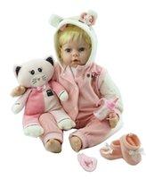 oyuncaklara bak toptan satış-Toptan Gerçekçi yumuşak Silikon Bebek Yeniden Doğmuş Bebek kız Vinil Bakmak Gerçek Sahte Bebek Oyuncak Çocuk Oyun Arkadaşı Için Hediye Xmas Mevcut