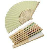 klasik katlanır fanlar toptan satış-50 Adet Kişiselleştirilmiş Kazınmış Katlanır El Kağıt Fanı Fold Vintage Hayranları açık Düğün Parti Bebek Duş Iyilik