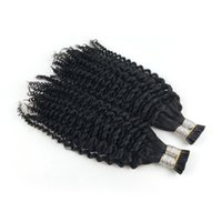 1g çubuk uçlu saç toptan satış-Afro Kinky Kıvırcık Saç Tüm kafa 100G Ben Ucu İnsan Saç Uzantıları Ön Gümrük keratin çubuk ucu saç uzantıları 100 S