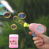 ingrosso pistola animale-2019 Light Cartoon Soap Animal Soap Water Bubble Gun For Kid Giocattoli da esterno Flash per bambini Blowing Bubbles Giocattolo Manuale Bubble Blower Gun