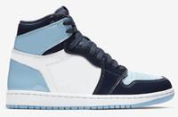 frauen schuhe sterne großhandel-New 1 High OG UNC Patent WMNS ASG Obsidian Blue Chill Weiß Männer Frauen-Basketball-Schuhe 1 s All-Star Game Sneakers mit dem Kasten