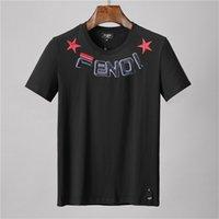neu gedruckte t-shirts großhandel-Mens-Designer-T-Shirt FF-Mode-Hip-Hop-Straßen-T-Shirts neues heißes Druck-T-Shirt beiläufiger Joker Breathable T-Shirts Qualitäts-T-Shirt