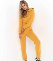 passt kuchen großhandel-Frauen Hoodie Trainingsanzüge Heißer Kuchen Neue Stil Fitness Pullover Lüften Multicolor Reine Farbe Sommerzeit Sweat Suits