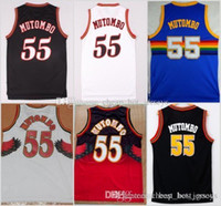 Wholesale best uniform basketball for sale - Group buy NCAA Dikembe Mutombo Shirt Fashion All Mutombo Shirt Uniform Team Red Blue White Black Best Quality