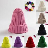 Wholesale blank winter hats resale online - Christmas Hats Men Women Beanie Knit Ski Cap Hip Hop Blank Color Winter Warm Unisex Hats Hot New Solid Color Knit Pointed Hat