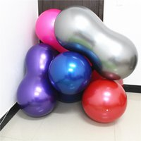 bola roja de masaje al por mayor-50 Multiplicar 100 CM Yoga Peanut Ball Physio Therapy Masaje Fuerte Elasticidad Yogaballs Rojo Púrpura Azul Equipos de Fitness 18 5lgD1