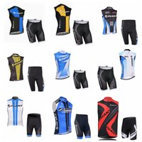 Wholesale giant team cycling bicycle jerseys for sale - GIANT team Cycling Sleeveless jersey Vest shorts sets Breathable Quick dry bike Clothes MTB clothing bicycle Maillot F