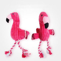 Wholesale dog chew toy rope for sale - Flamingo Squeaky Chewing Toys plush Pet Dogs Puppy cartoon cute Rope Chewing Training Toys Pet Supplies FFA1507
