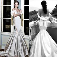 свадебные платья оптовых-2020 Off плеча Русалка Sexy Свадебные платья Backless Свадебные платья плюс размер Arabic FitFlare платье Саудовская Аравия