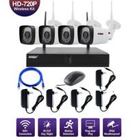 Wholesale camera nvr resale online - Anspo CH WiFi Wireless Security Camera System NVR P Night Vision IR Cut CCTV Home Surveillance Camera System Kit Waterproof