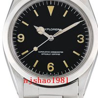 Wholesale vintage christmas glasses resale online - Wristwatches years Vintage mm Explorer Air King Stainless Steel Mechanical Automatic Men Mens Watch Watches Wristwatches