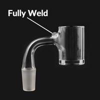 agua usa al por mayor-EE.UU. perfecto sellado totalmente soldado de cuarzo de 25 mm XL Banger borde biselado superior Honey Bucket 18 mm 14 mm hembra de DAB plataforma de cristal de agua Bongs