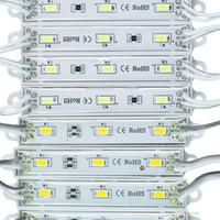 led módulo cool white venda por atacado-DHL LED módulo de luz, diodo emissor de luz módulo, Cool Branco / Warm branco / vermelho / amarelo / azul / verde, DC12 impermeável SMD5730 superbright